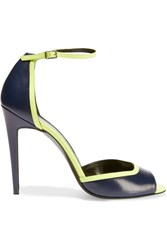 Pierre Hardy Two Tone Neon Leather Sandals Blue