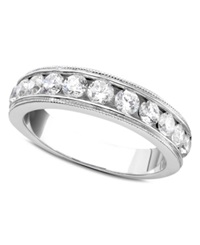 Macy's Round Cut Diamond Band Ring In 14K White Gold 1 Ct. T.W.