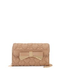 Betsey Johnson Be Mine Forever Quilted Wallet On Chain Spice