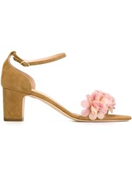Rupert Sanderson Embellished Sandals Nude And Neutrals