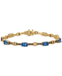 Le Vian Chocolatier Tanzanite 3 1 6 Ct. T.W. And Diamond 1 Ct. T.W. Link Bracelet In 14K Gold Yellow Gold