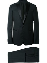 Z Zegna One Button Dinner Suit Black