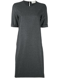 Maison Rabih Kayrouz Fold Sleeve T Shirt Dress Grey