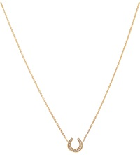 Annoushka Love Diamonds 18Ct Yellow Gold And Diamonds Horseshoe Pendant Necklace