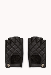 Forever 21 Iconic Fingerless Gloves Black