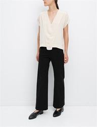 Creatures Of Comfort Vina Top Washed Silk Ivory