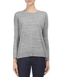 Whistles Ribbed Trim Tee Grey