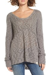 Rip Curl Women's Prophesy Knit High Low Pullover Dark Grey