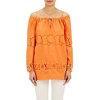 Philosophy Di Alberta Ferretti Women's Embroidered Eyelet Swing Blouse Size 0 Us No Color