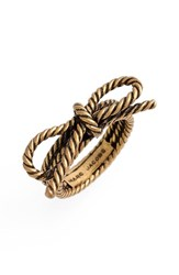 Marc By Marc Jacobs Women's Marc Jacobs Rope Bow Ring Gold