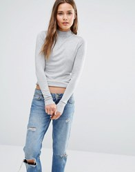 New Look Stand Neck Jumper Grey