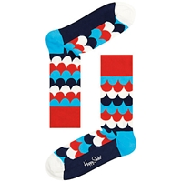 Happy Socks Scales Cotton Blend Socks One Size Blue Red