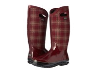 Bogs Classic Winter Plaid Tall Burgundy Multi Women's Shoes
