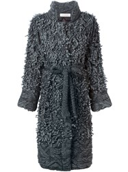 A.F.Vandevorst '152 Tourist' Fringed Cardi Coat Grey