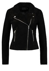 Only Onlvega Leather Jacket Black