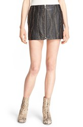 Free People Women's 'Obsessed' Leather Miniskirt Black
