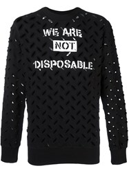 Vivienne Westwood Anglomania 'We Are Not Disposable' Sweatshirt Black