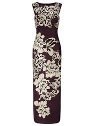 Phase Eight Collection 8 Doris Embroidered Maxi Dress Aubergine
