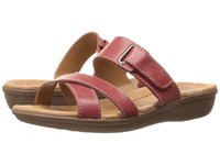 Clarks Manilla Pluma Red Leather Women's Sandals