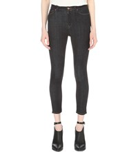 Allsaints Nim Super Skinny High Rise Cropped Jeans Rinse Wash