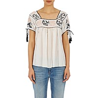 Ulla Johnson Women's Lila Peasant Top Ivory
