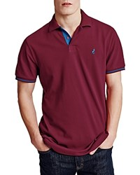 Thomas Pink Brandon Plain Classic Fit Polo Deep Red Blue