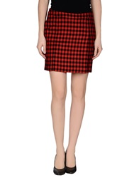 Love Moschino Mini Skirts Red