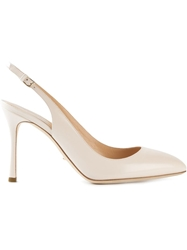 Sergio Rossi Slingback Pumps Nude And Neutrals