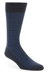 Nordstrom Men's Men's Shop Houndstooth Cotton Blend Socks
