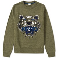 Kenzo Tiger Molleton Crew Sweat Green