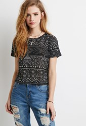 Forever 21 Tribal Print Boxy Tee