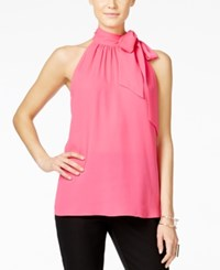 Inc International Concepts Tie Neck Halter Top Only At Macy's Intense Pink