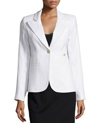 Smythe Duchess One Button Linen Blazer White