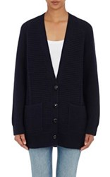 Proenza Schouler Women's Wool Cashmere Stockinette Stitched Cardigan Navy