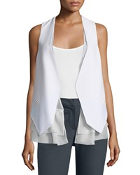 Brunello Cucinelli Open Front Layered Gilet White