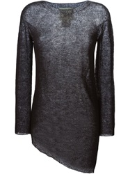 8Pm Asymmetric Knit Sweater Black