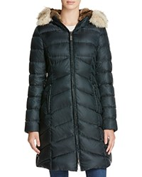 Dawn Levy Fur Trim Daphne Down Coat New Green