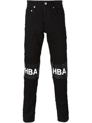 Hood By Air Logo Patch Jeans Black