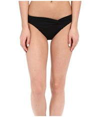 Jets By Jessika Allen Illuminate Asymmetrical Twist Front Bikini Bottom Black Women's Swimwear