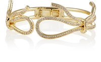 Fallon Women's Forget Me Knot Hinged Cuff Gold