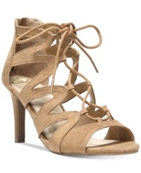 Fergalicious Heart Throb Lace Up Dress Sandals Women's Shoes Brulee