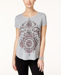 Styleandco. Style Co. Medallion Graphic T Shirt Only At Macy's Light Grey Hthr