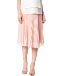 A Pea In The Pod Hazel And Jaloux Maternity Secret Fit Belly Accordion Pleated Midi Skirt Blush