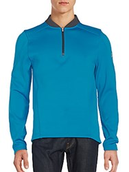 Spyder Club Half Zip Shirt Blue