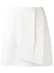 Giuliana Romanno Textured Skirt White