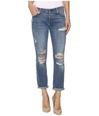 7 For All Mankind Josefina W Destroy In Bright Light Broken Twill Bright Light Broken Twill 2 Women's Jeans Blue