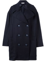 J.W.Anderson Oversized Double Breasted Coat Blue