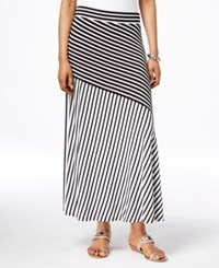 Inc International Concepts Striped Maxi Skirt Only At Macy's Black And White Stripe