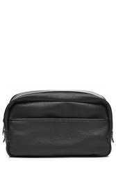 Marc By Marc Jacobs Zipped Leather Toiletry Bag Black