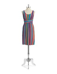 Spense Striped Pintuck Dress